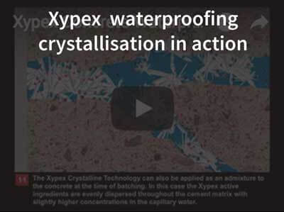 Xypex concrete waterproofing crystallisation in action
